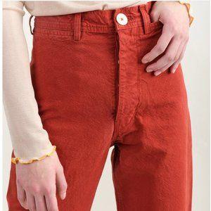 Jesse Kamm Sailor Pants Iron Oxide Sz Small/ 25
